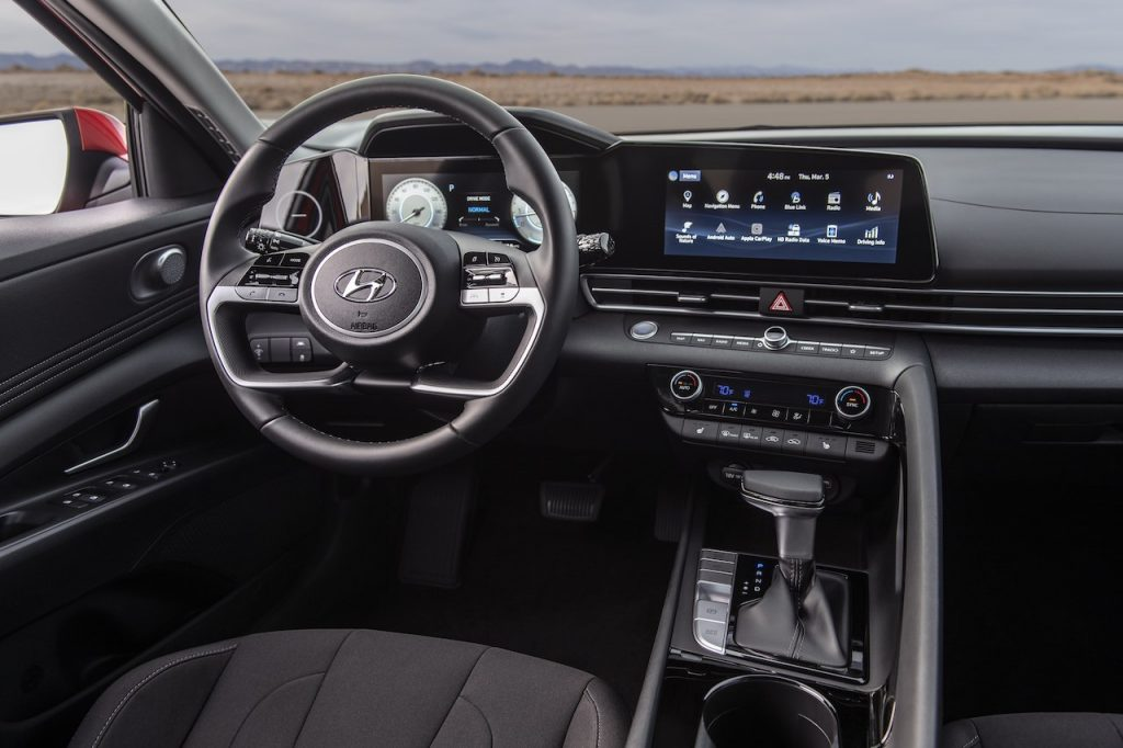 A photo of the 2021 Hyundai Elantra outdoors.