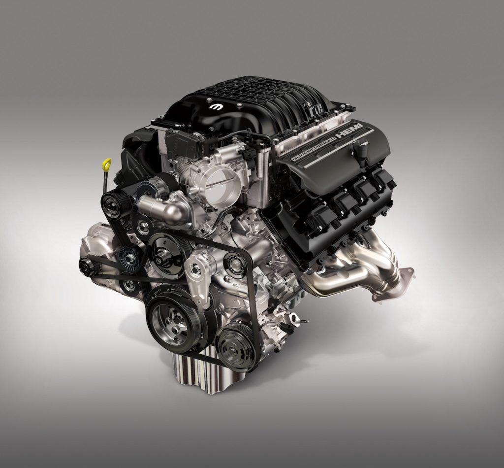 A digital image of FCA's Hellephant engine developing 1,000 hp.