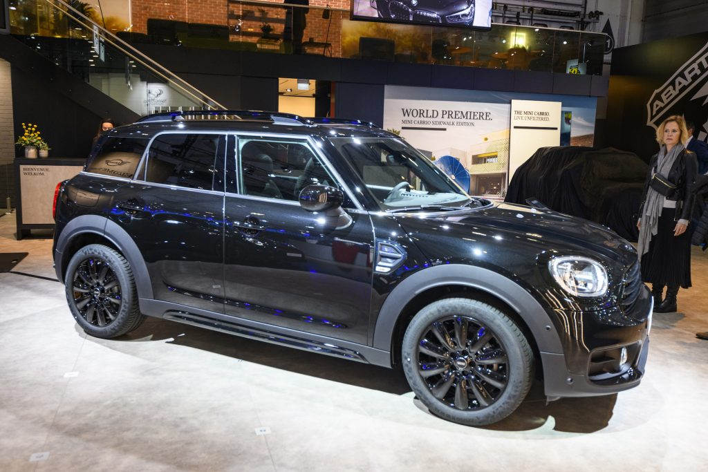 MINI Countryman crossover compact SUV on display at Brussels