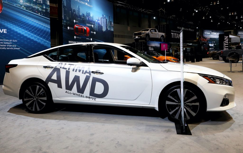 2020 Nissan Altima All Wheel Drive is on display at the 112th Annual Chicago Auto Show at McCormick Place