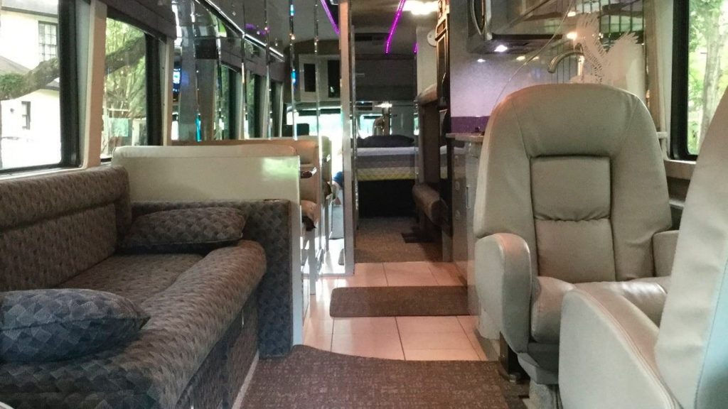 Prince 1984 Purple Rain Tour bus camper conversion