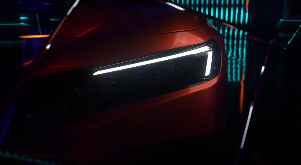 A photo of a 2022 Honda Civic in a studio.