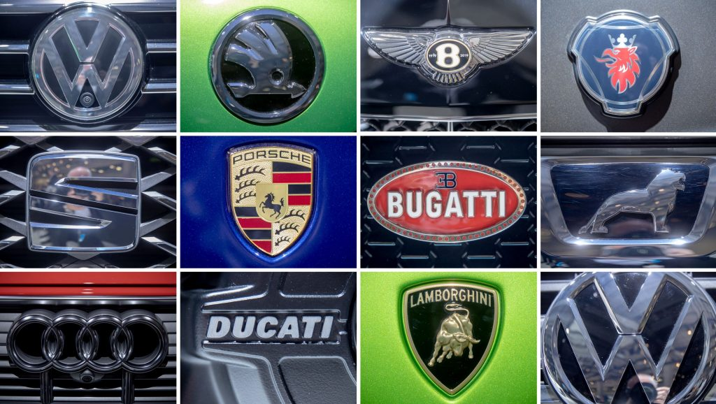 The car and motorcycle brands owned by Volkswagen