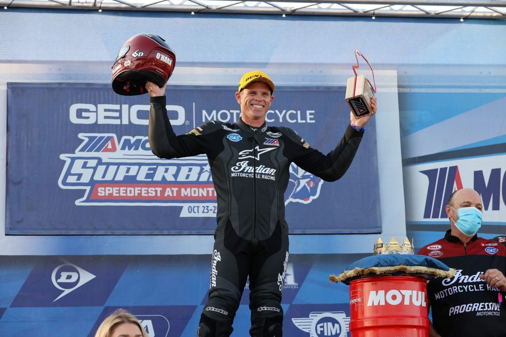 Tyler O'Hara on the 2020 King of the Baggers podium