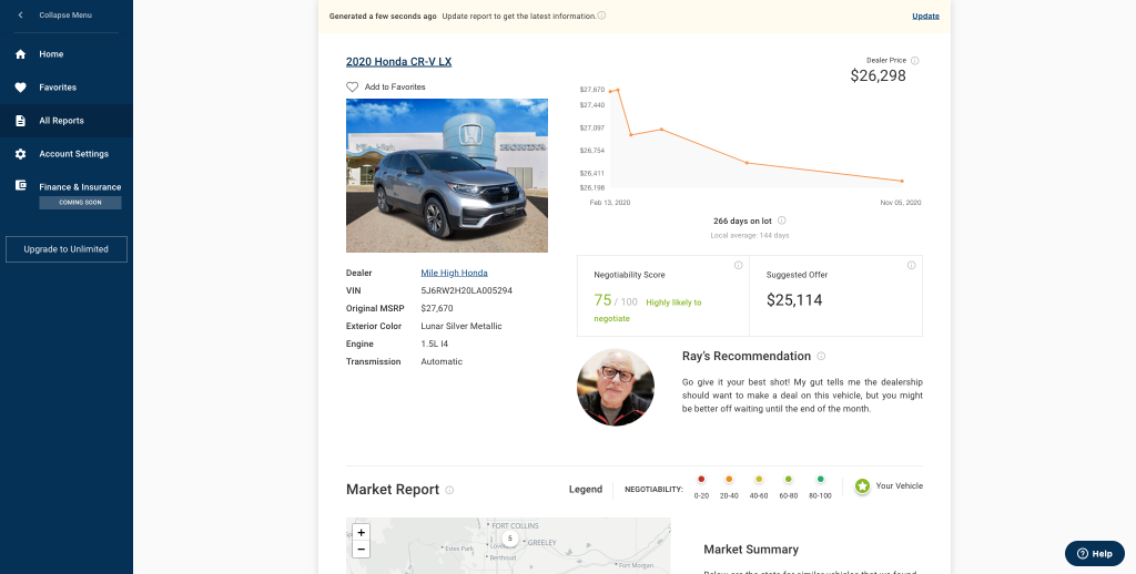 Market Price Tool on YourAutoAdvocate.com