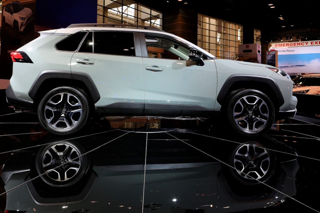2019 Toyota RAV4 is on display at the 111th Annual Chicago Auto Show at McCormick Place in Chicago, Illinois on February 8, 2019.