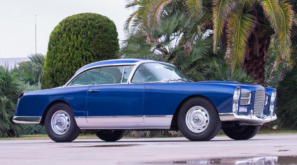 A blue 1960 Facel Vega HK500