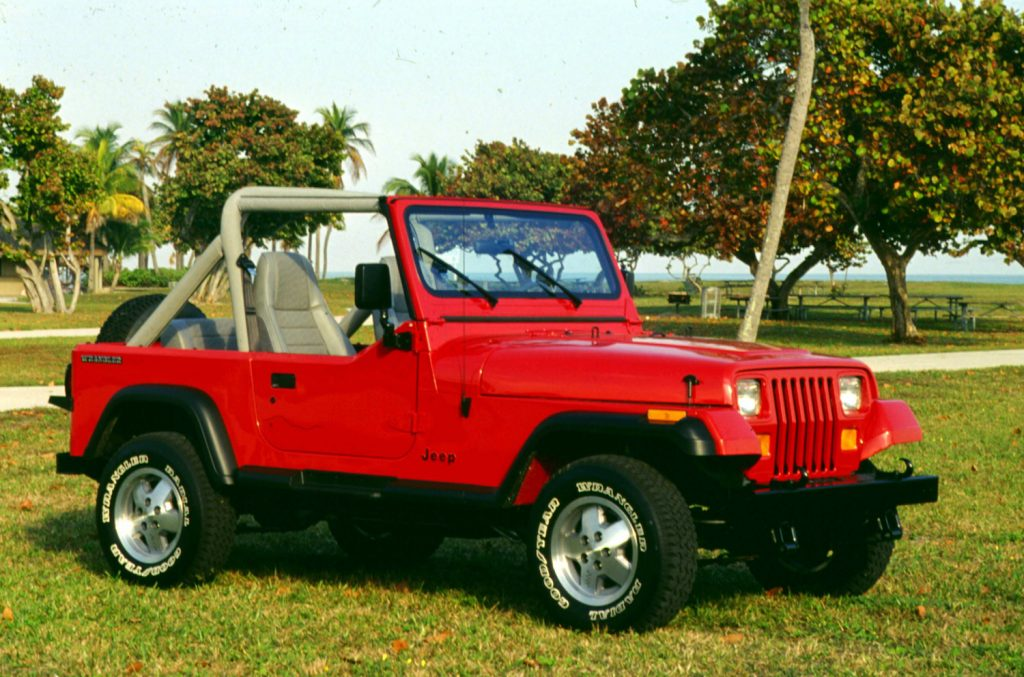 Jeep Wrangler YJ in red