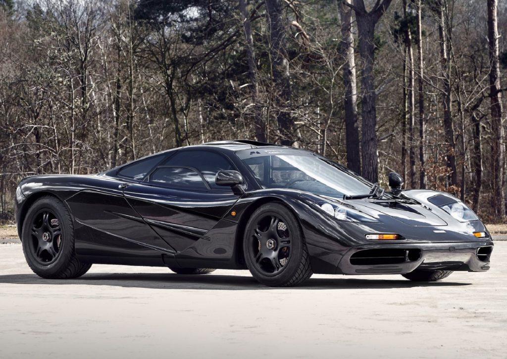 A black 1993 McLaren F1