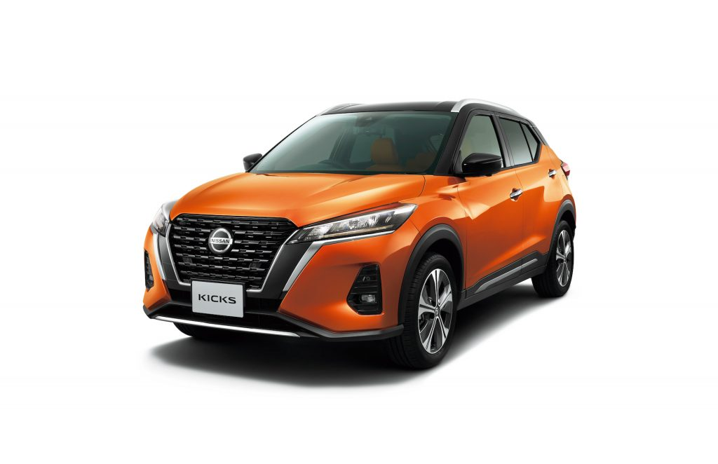 An in-studio image of the 2021 Nissan Kicks only available in Japan.