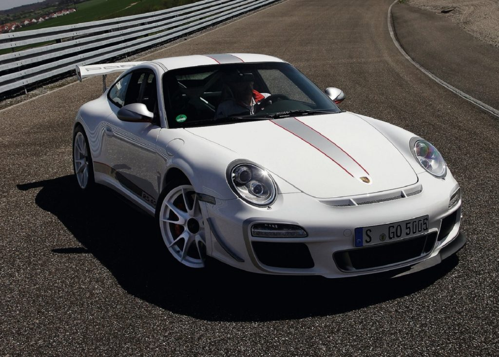 A white 2011 Porsche 911 GT3 RS 4.0