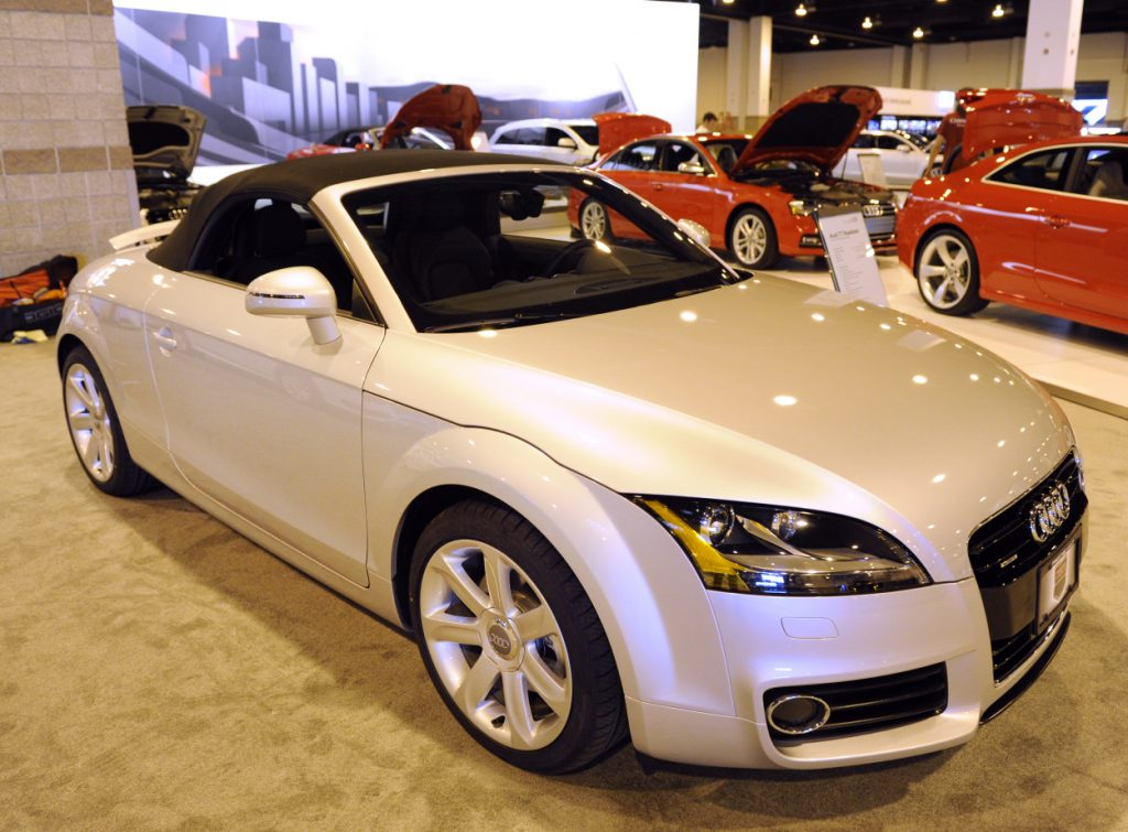 A 2012 Audi TT on display at an auto show