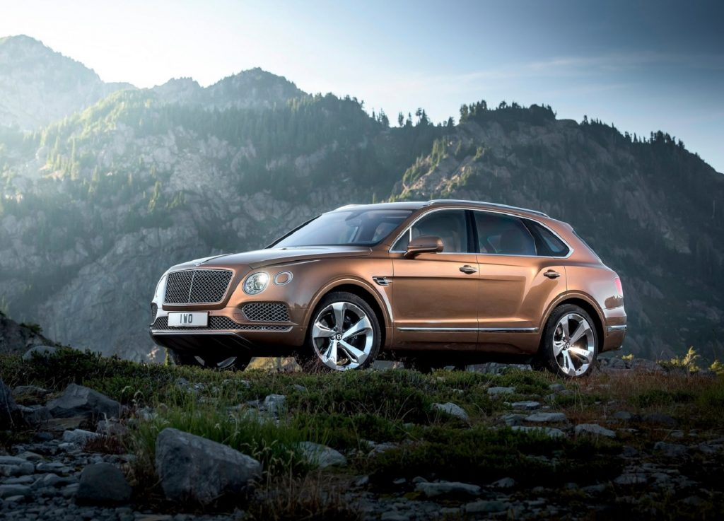 A bronze 2017 Bentley Bentayga
