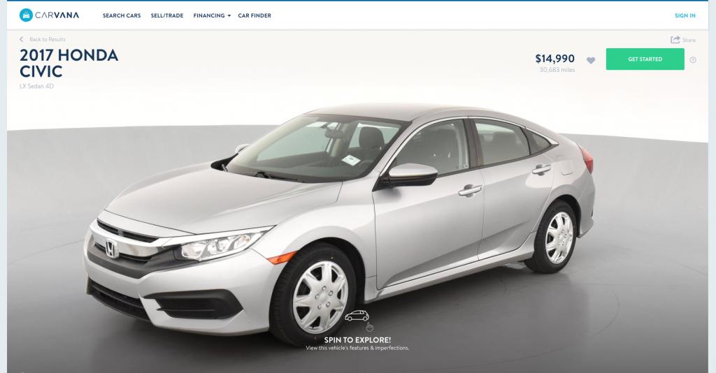 2017 Honda Civic LX for sale on Carvana
