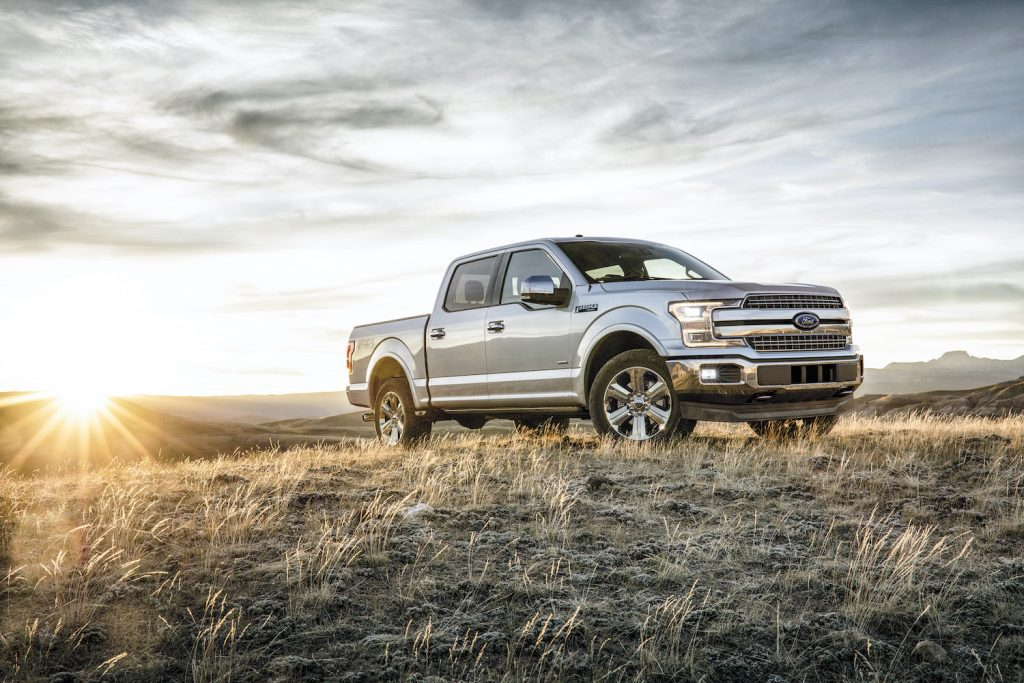 2018 Ford F-150 on a hillcrest