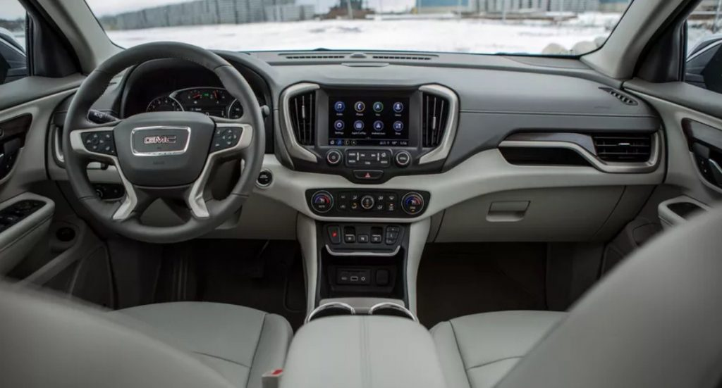 Front seats of the 2019 GMC Terrain.
