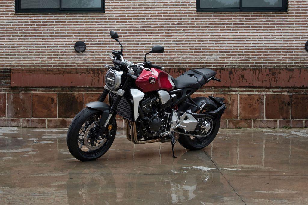 A red 2019 Honda CB1000R