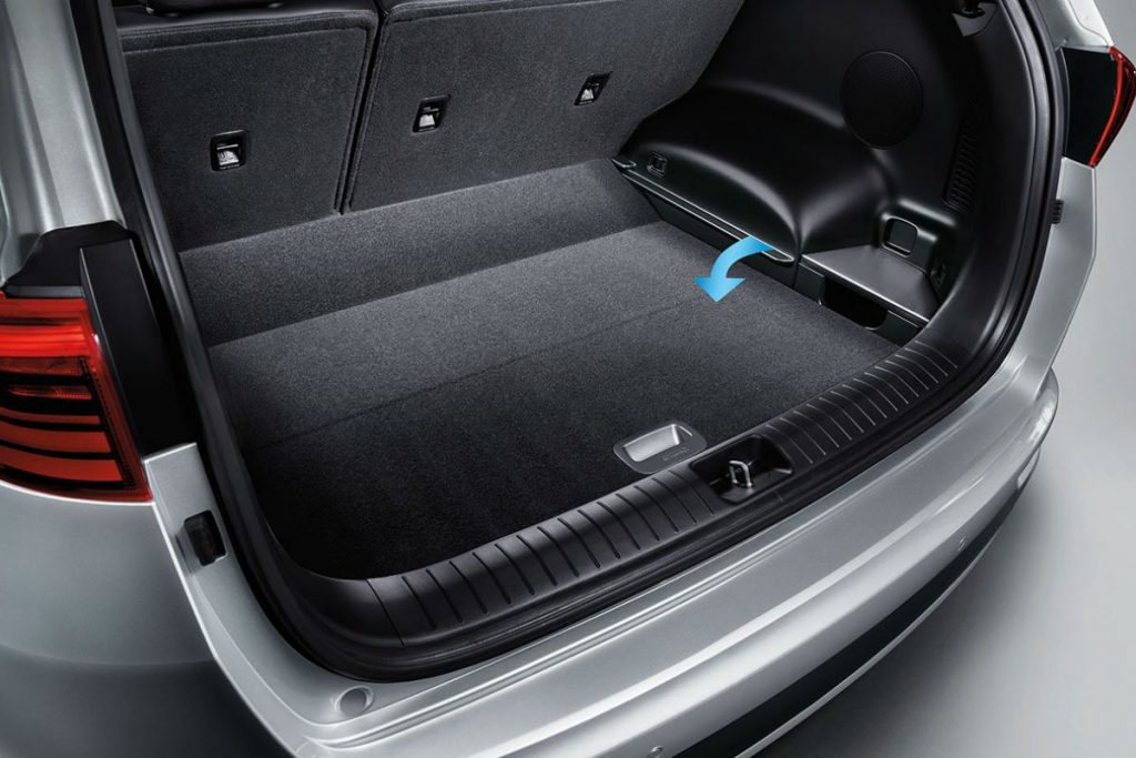 Trunk area of the 2019 Sportage.