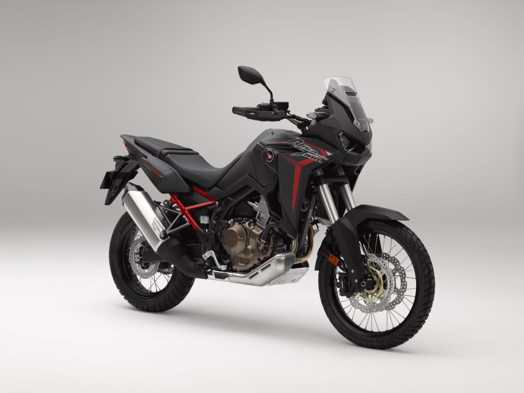 A black-and-red 2020 Honda Africa Twin CRF1100L