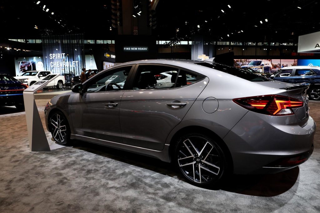 2020 Hyundai Elantra is on display at the 112th Annual Chicago Auto Show