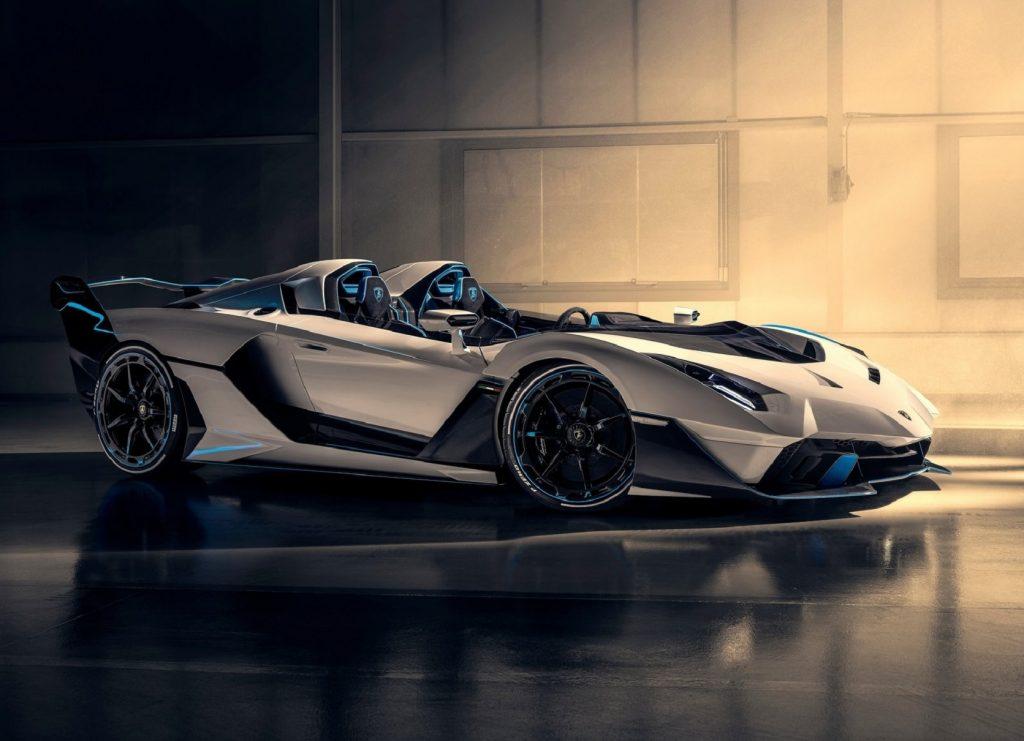 The white 2020 Lamborghini SC20