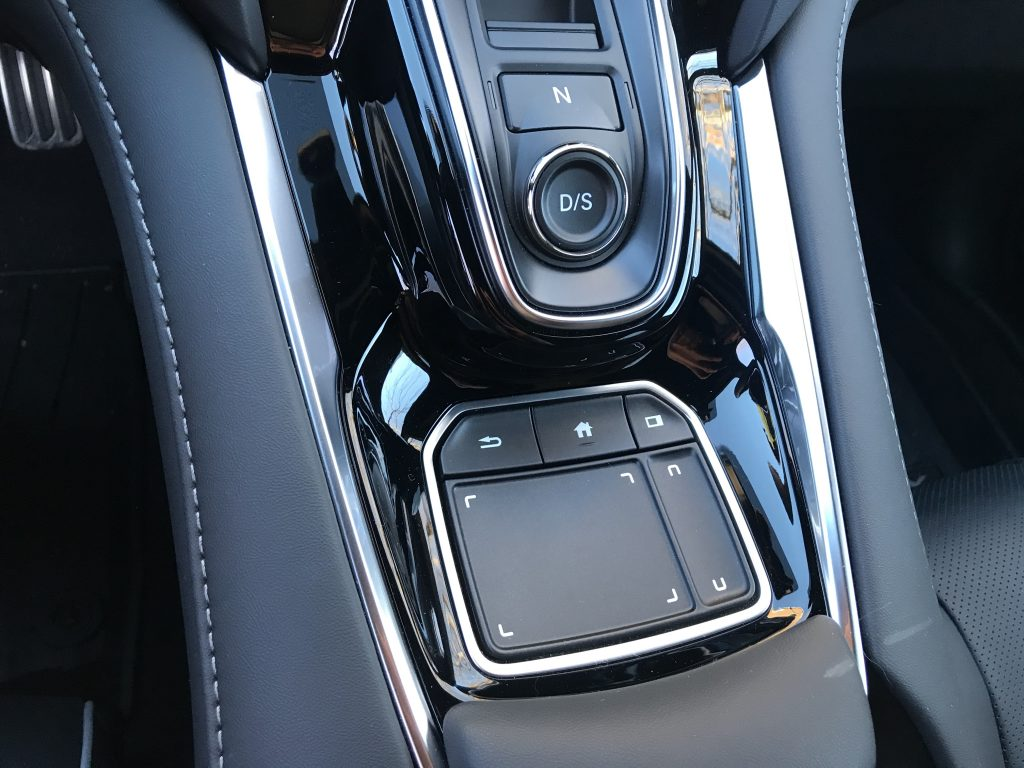Close up of the RDX's True Touchpad control.