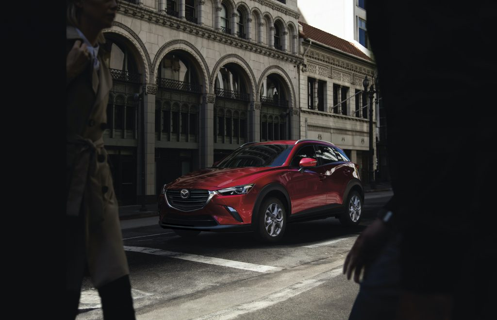 2021 Mazda CX-3 parked in a city setting