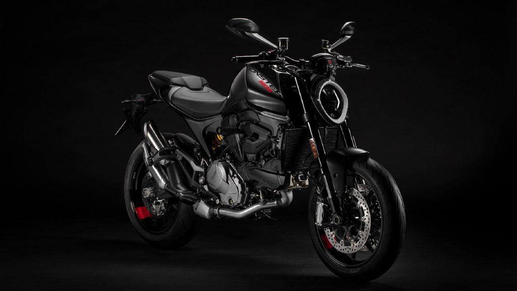 A black 2021 Ducati Monster