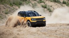 2021 Ford Bronco Sport off-roading in sand