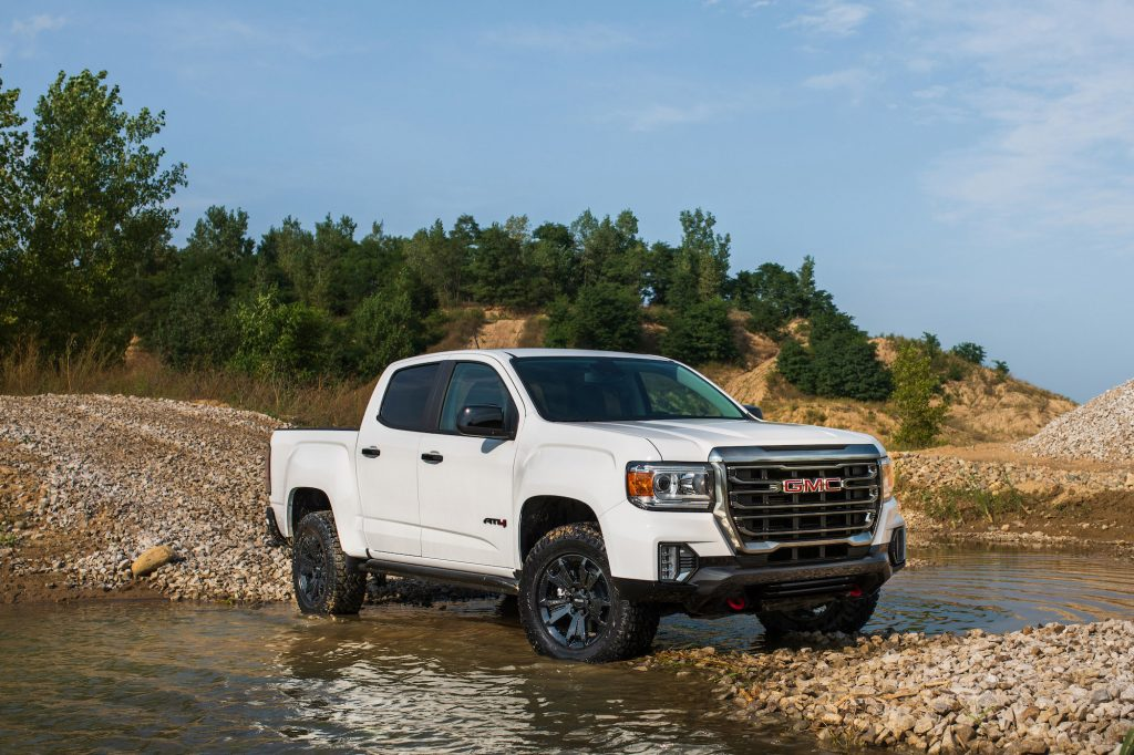 2021 GMC Canyon AT4 Off-Road Performance Edition takes Canyon's capability to a higher level with increased protection and maneuverability.
