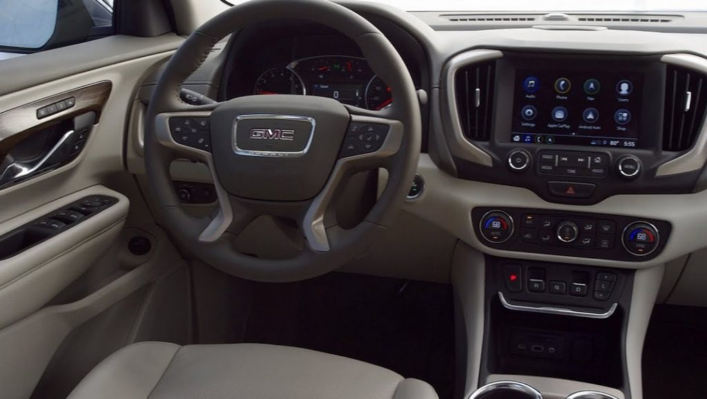 Front seats of the 2021 GMC Terrain.