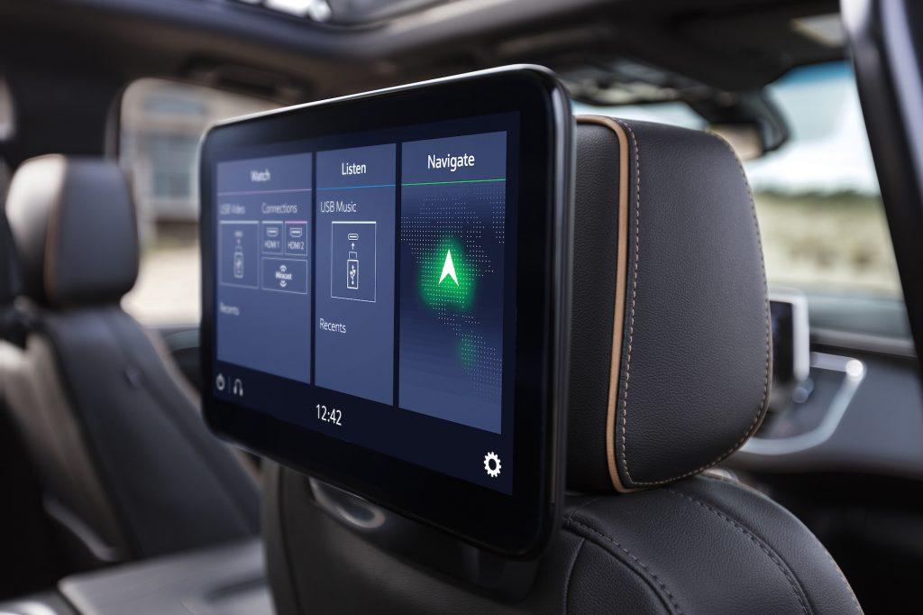 2021 GMC Yukon AT4 rear-seat entertainment system