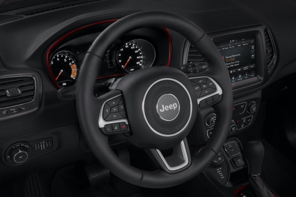 The interior of the 2021 Jeep Compass