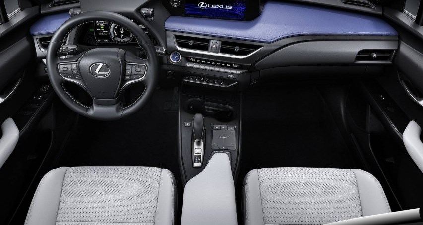 Front seats of the 2021 Lexus Hybrid interior.