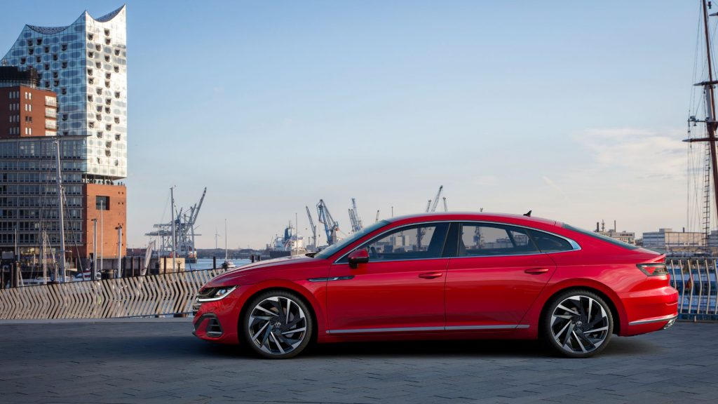 Sideview of a red 2021 Arteon.