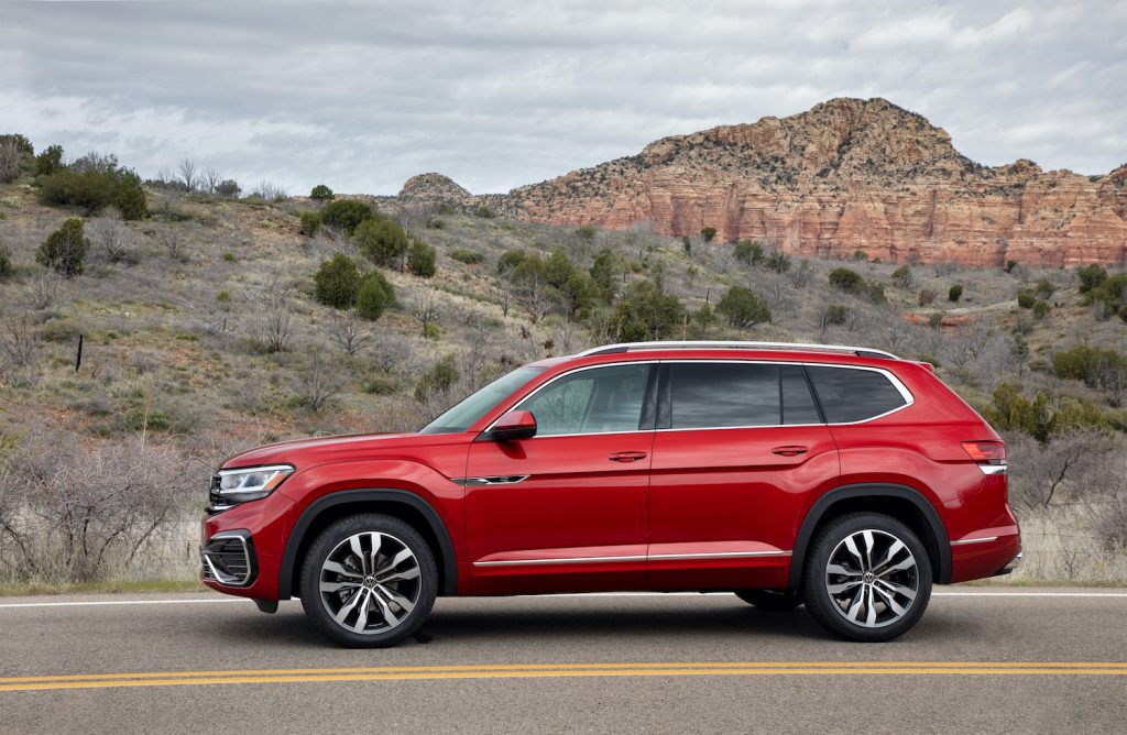 2021 Volkswagen Atlas parked in a scenic area