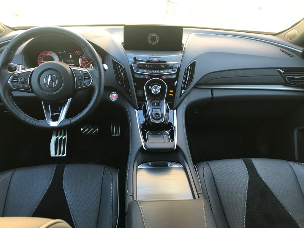 Front seats of the 2021 Acura RDX.