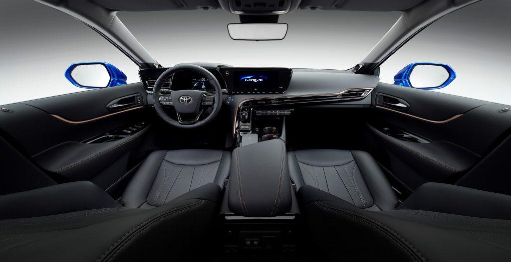 A digital image of a 2021 Toyota Mirai in studio.