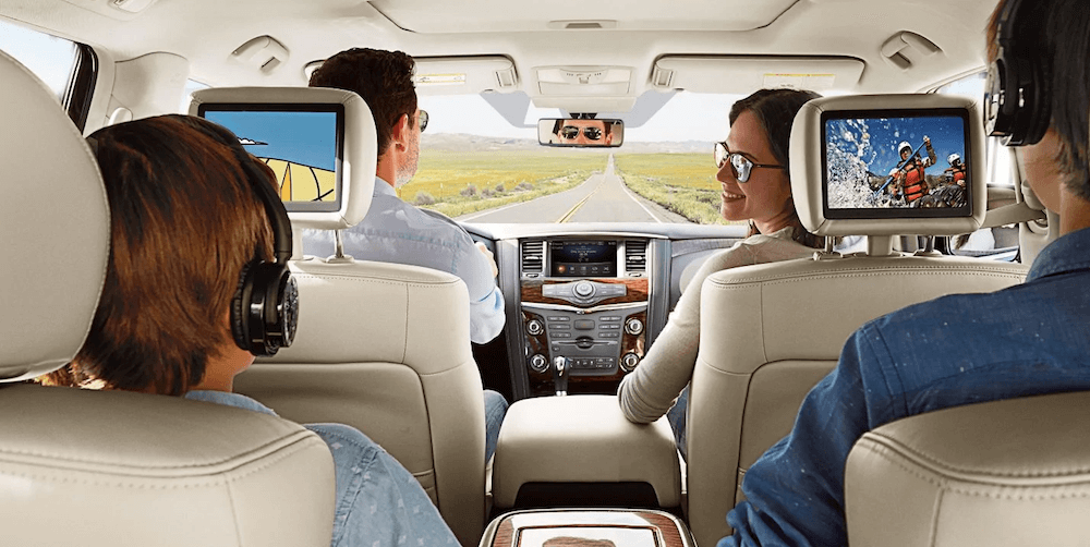 2019 Nissan Armada with a rear-seat entertainment system.