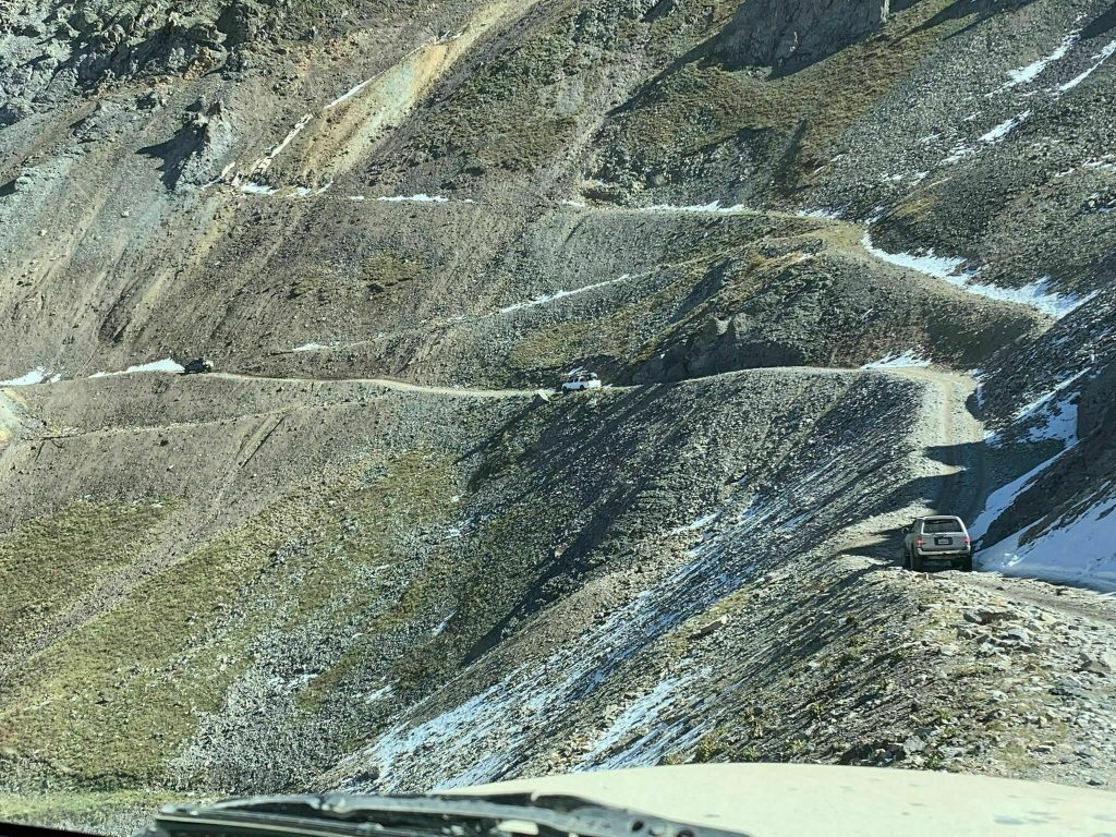 The switchback section is the part of this pass that makes it one of the most dangerous off-road trails