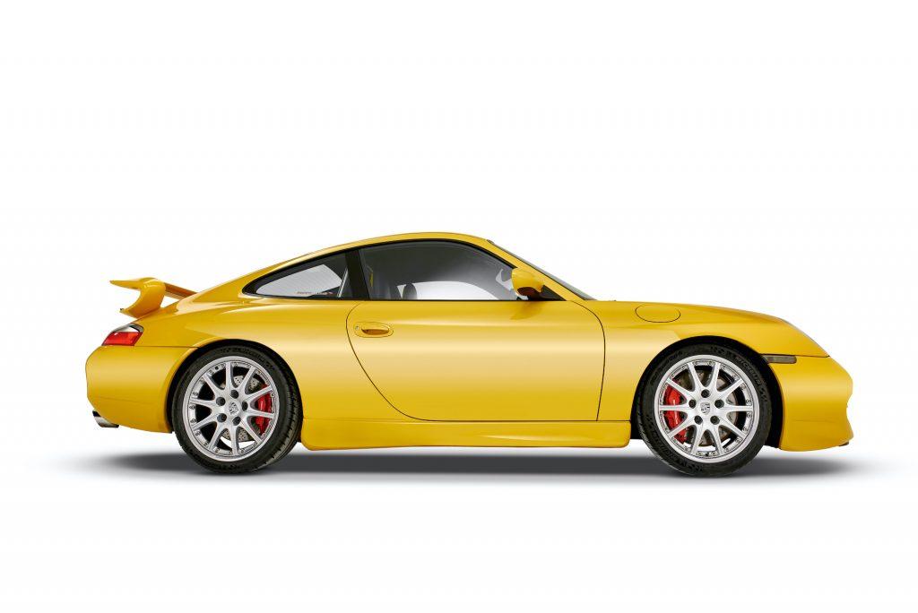A Porsche Index 996.1 GT3 sports ca