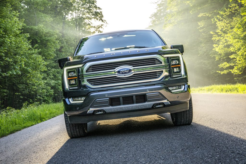 An image of a 2021 Ford F-150 outdoors.
