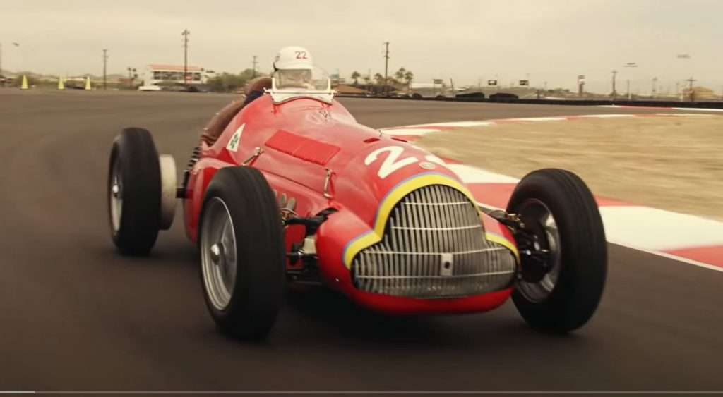 The Alfa Romeo tribute replica on the track.