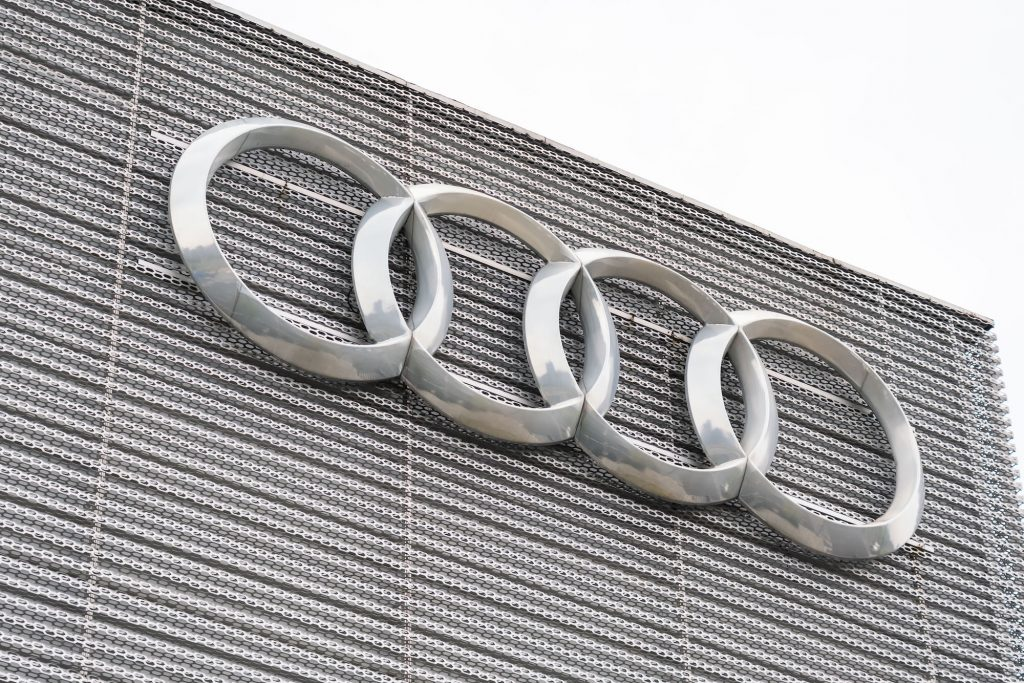 German automobile manufacturer Audi logo seen in Shanghai.