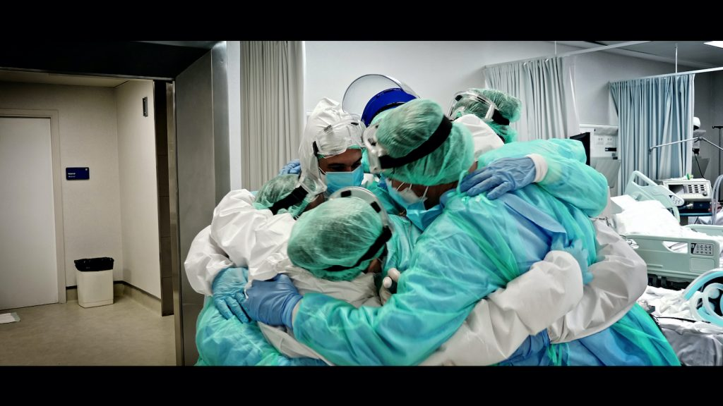 A group of medical professionals during the coronavirus pandemic