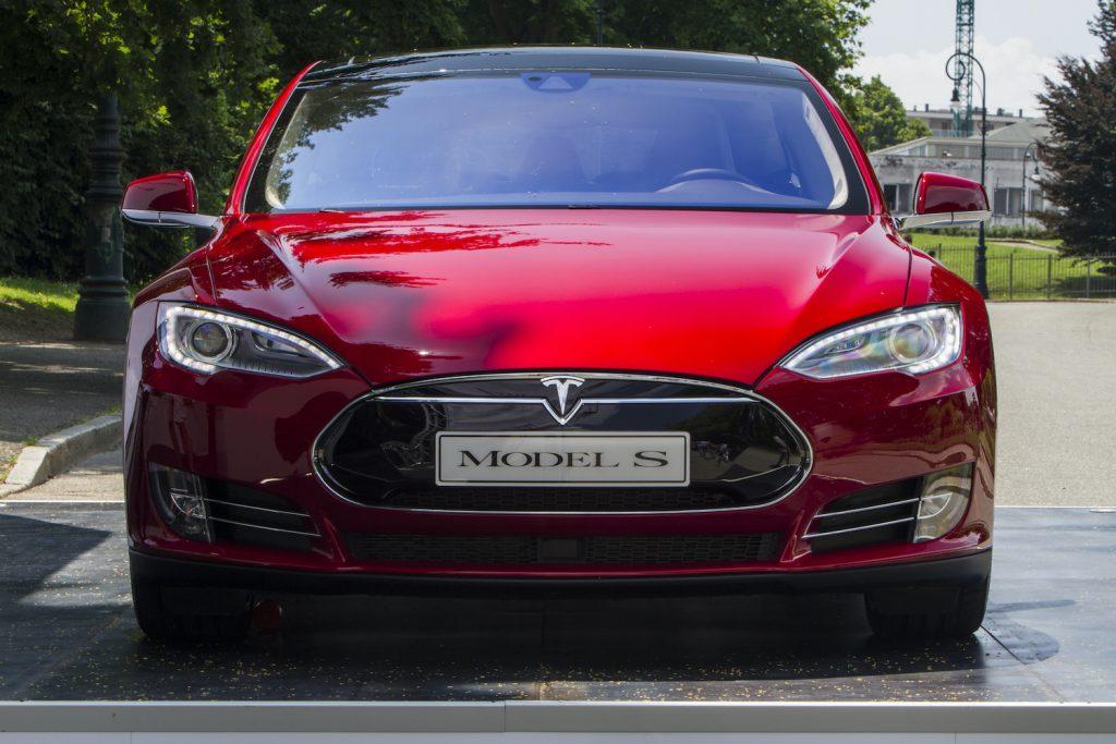 Front view of Tesla Model S