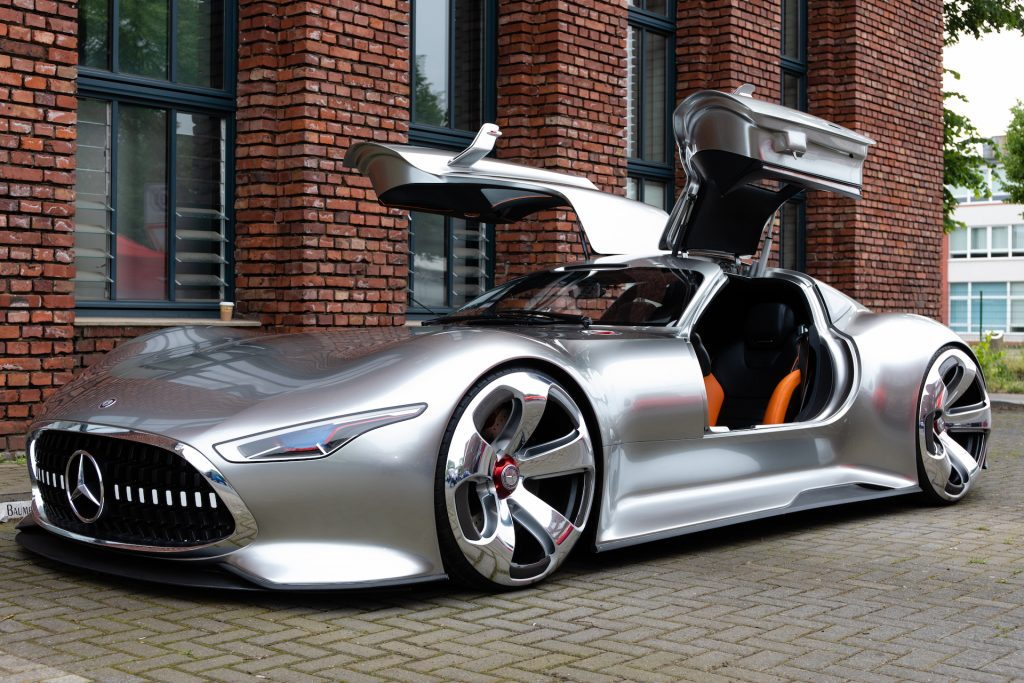 An image of the Mercedes-Benz Vision Gran Turismo outdoors.