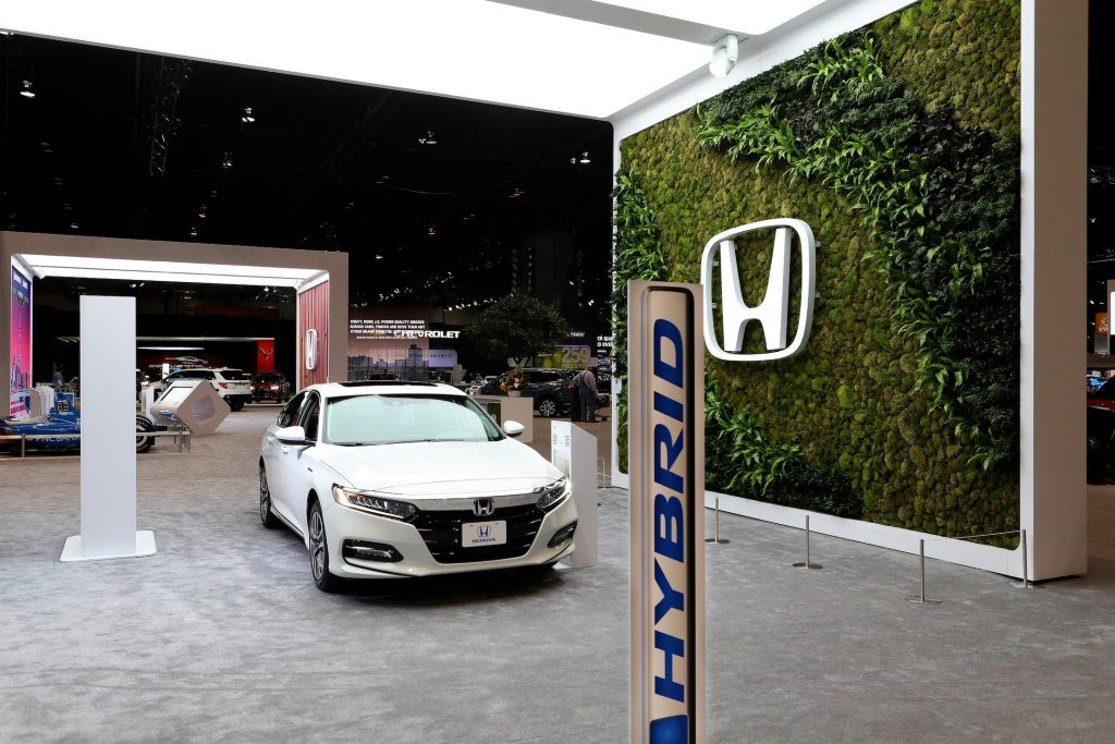 2020 Honda Accord Hybrid is on display at the 112th Annual Chicago Auto Show