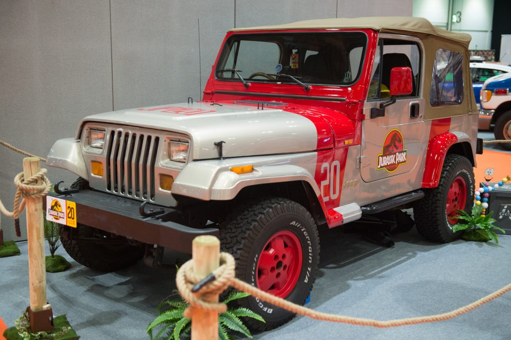 Jurassic Park Jeep on display