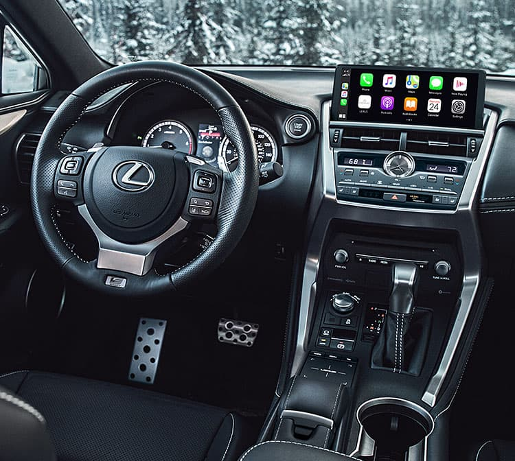 Driver's seat of the 2021 Lexus NX